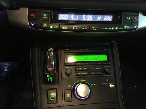 2011 Lexus CT200h radio