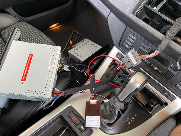 bmw x5 e53 navigation unit install