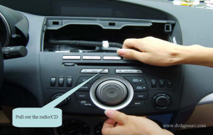 pull out factory radio mazda 3