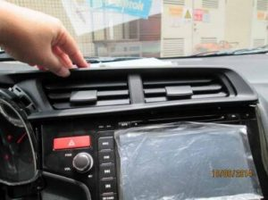 install back air vents panel