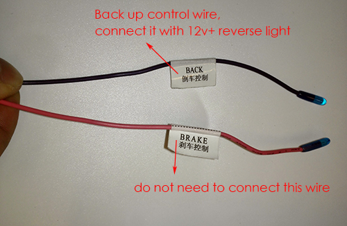 back up control wire