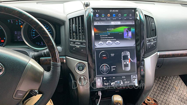 land cruiser tesla screen head unit