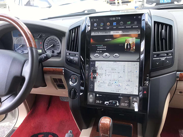 tesla screen for land cruiser