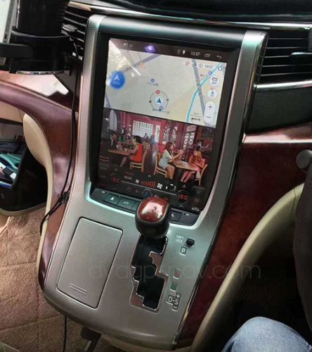 installation toyota alphard head unit