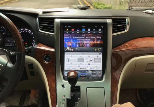 Tesla Style Toyota Alphard Android Head Unit