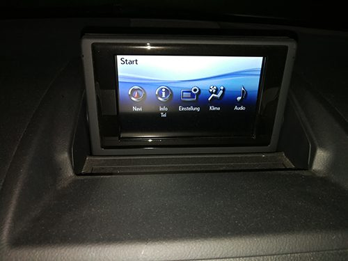 Lexus CT200h 2012 with factory navigation