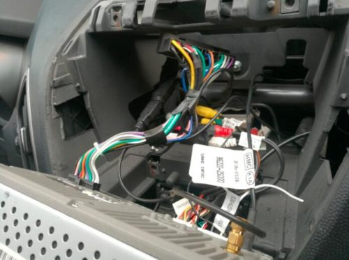 Take out Hyundai ix35 stereo
