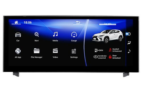 Lexus IS250 Android screen