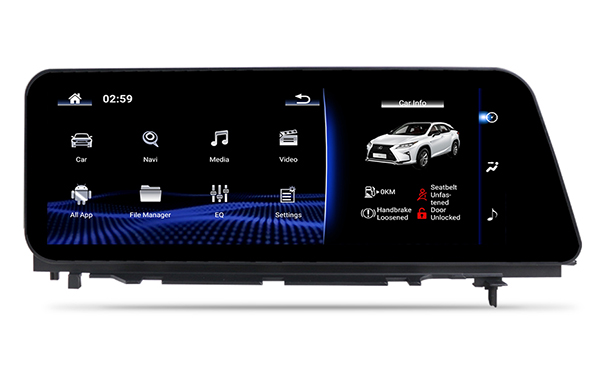 Lexus RX 350 aftermarket stereo