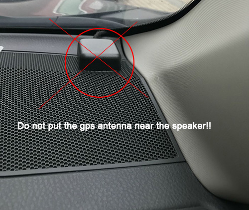 not put GPS antenna here