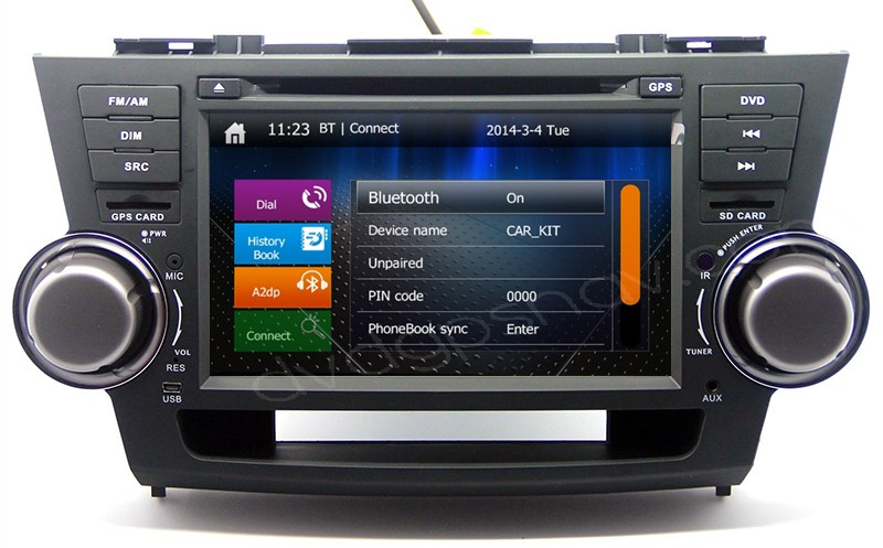 toyota highlander dvd player
