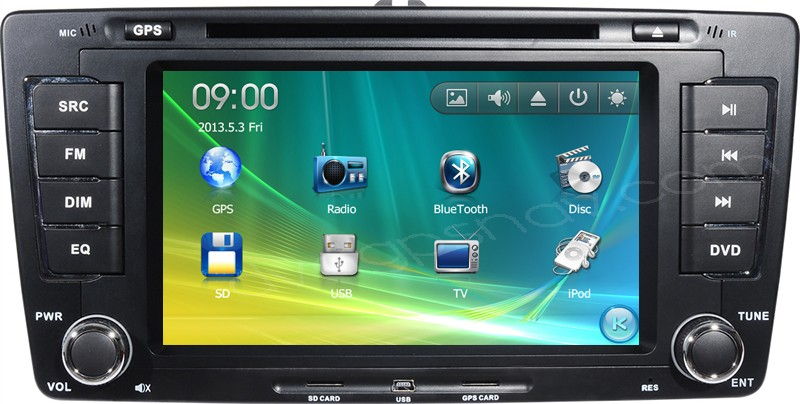skoda octavia car dvd player