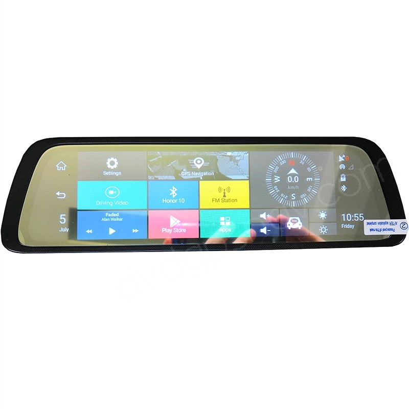 Android 10 Quot Gps Rear View Mirror Navigation System With