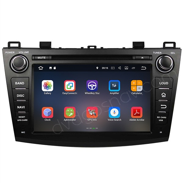 mazda 3 android gps dvd navi radio bluetooth touch screen headunit 1024 600 quad cores 16gb for. Black Bedroom Furniture Sets. Home Design Ideas