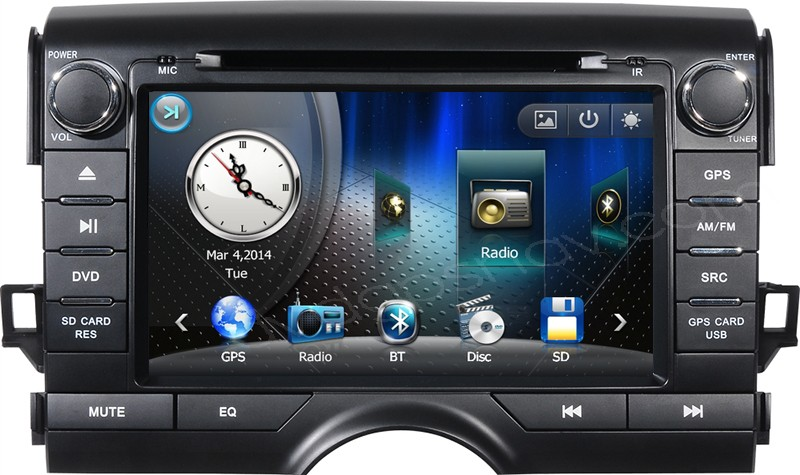 toyota mark x dvd player