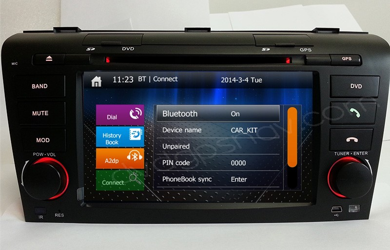 Mazda 3 Touch Screen Head unit Upgrade With Navigation DVD Player