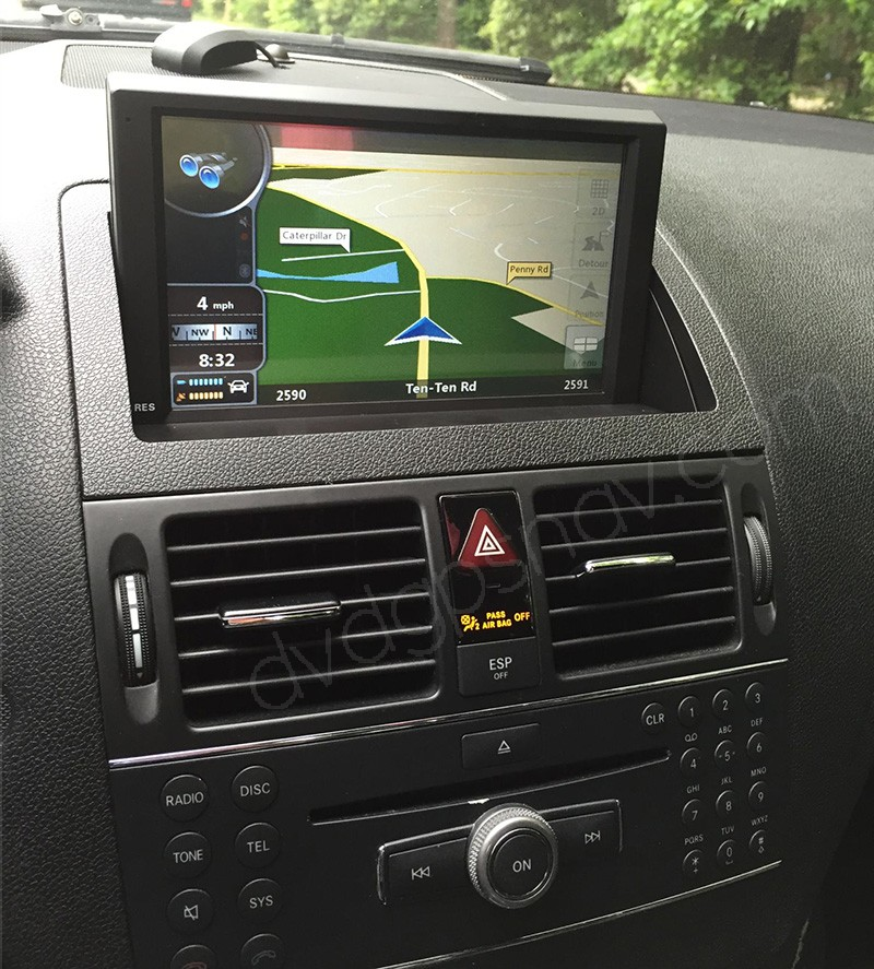 install Mercedes Benz W204 navigation DVD player