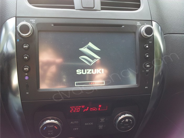 after installation Suzuki SX4 radio