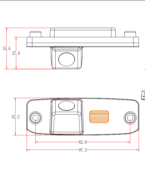 hyundai elantra backup camera dimensions