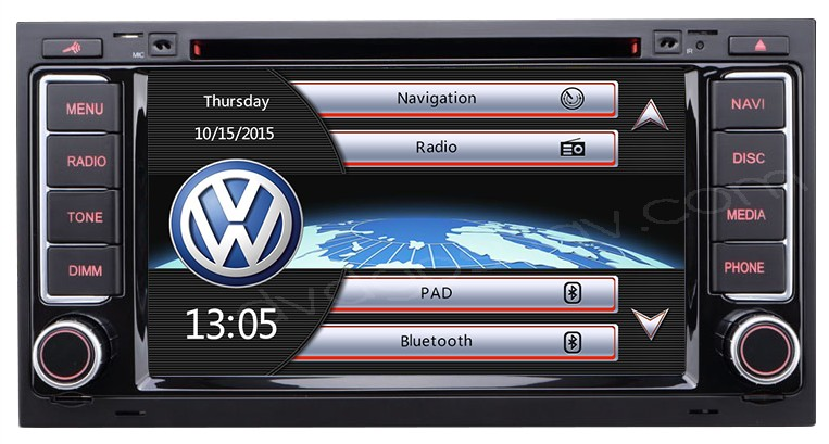 vw touareg dvd player
