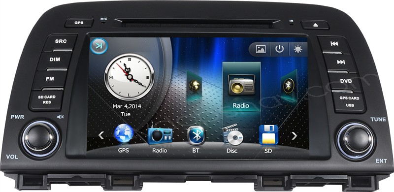 Mazda CX-5 Navigation System Radio GPS DVD Player Bluetooth Touch screen Head unit