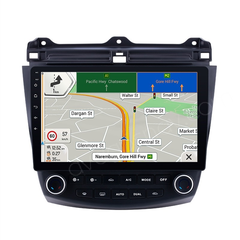 """2003-2007 Honda Accord Android Head Unit Aftermarket Radio Stereo Upgrade 10.1"""" HD Touch Screen"""