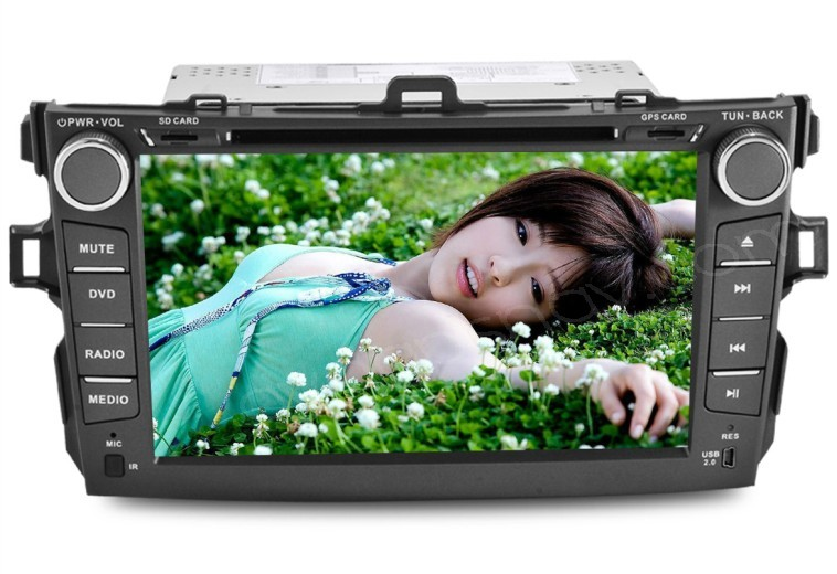 "8"" Toyota Corolla DVD Player Double Din Corolla DVD Navigation GPS TV Headunit"