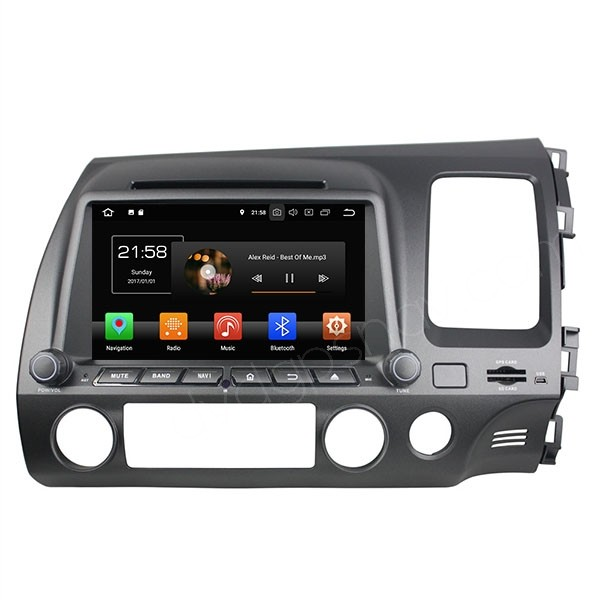 "Android Honda Civic Navigation Radio DVD GPS 4-Core 16GB HD 8"" Touch screen Right Hand Drive"