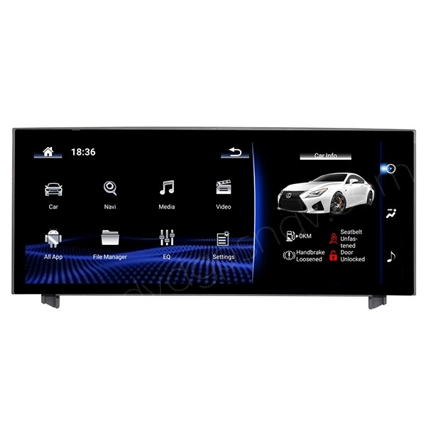 Aftermarket Lexus IS 250 300h 350 Large Touch Screen Android Display Apple Carplay