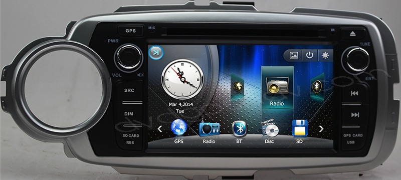 Toyota Yaris GPS Navigation DVD Radio for Toyota Yaris 2012 2013 2014 2015