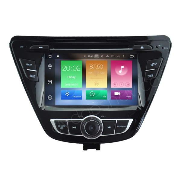 "Android 6.0 Hyundai Elantra DVD GPS Navigation 7""  HD Touch Screen Radio Octa Core CPU"