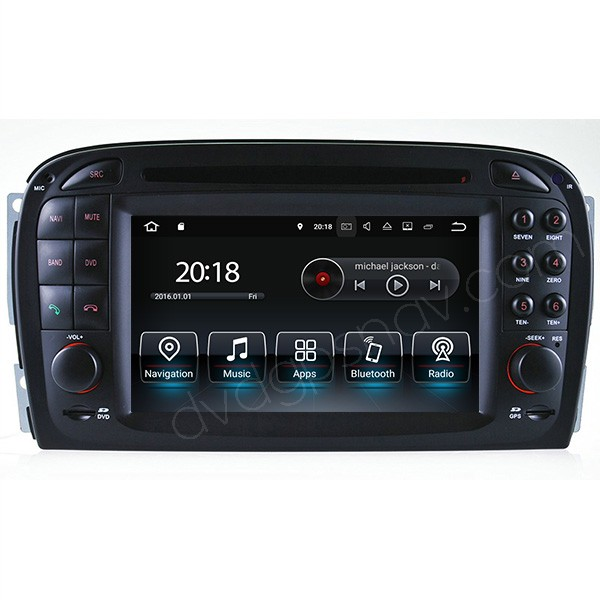 Android Mercedes Benz SL350 SL500 SL55 Navigation DVD Radio GPS R230 Multimedia System