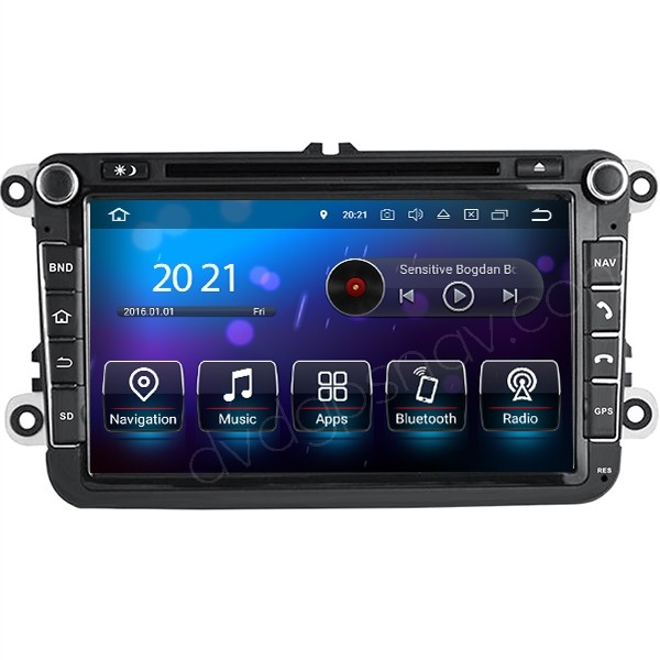 8inch Volkswagen Android Radio GPS DVD Navigation Touch Screen Multimedia System 1024x600 8-Cores 32GB