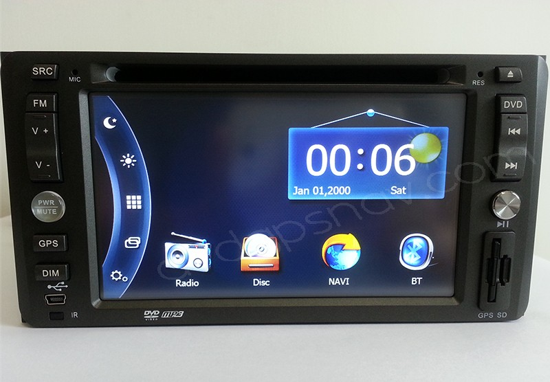 2 Din Toyota DVD player Navigation GPS Radio for Toyota Ist Corolla RAV4 Crown Feilder