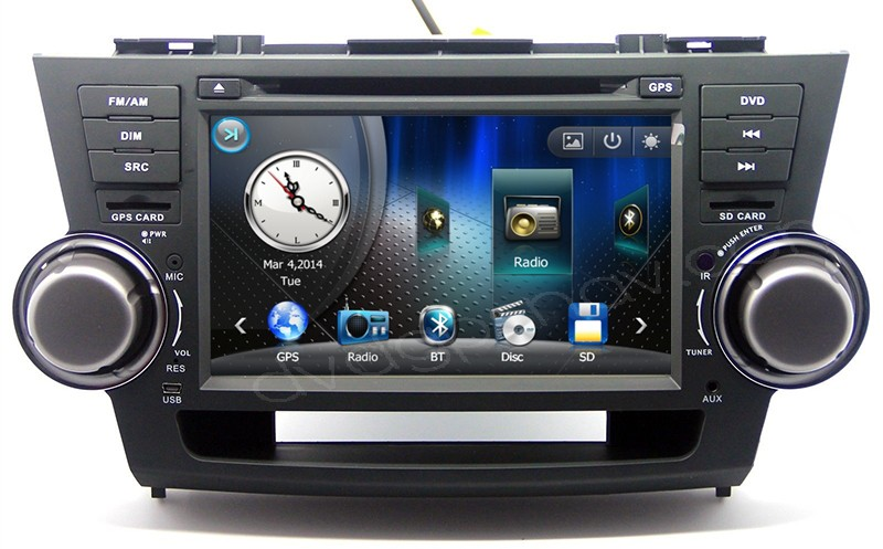 "8"" Toyota Highlander DVD Player - Highlander DVD GPS Nav Head unit"