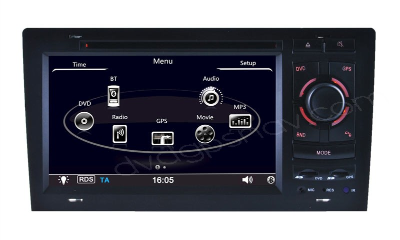 Audi A8 DVD GPS Navigation Head unit Bluetooth Nav System