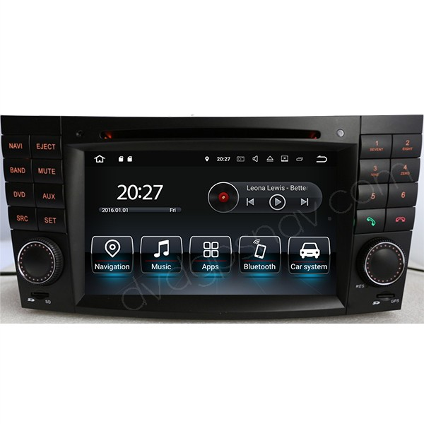 Android Double Din Mercedes Benz E-Class W211 Navigation DVD Player E55 E63 E300 E320 E280 E350 E500 Head Unit