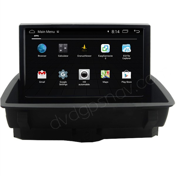 HD Android Audi Q3 GPS Navigation System Headunit DVD Player Optional 1024*600 Quad-Cores 16GB
