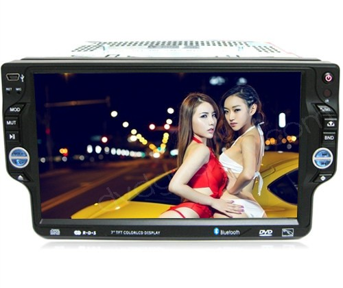"7"" One Din Car DVD Player with GPS Nav TV Bluetooth Radio Detachable Panel"