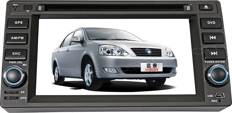 2 Din Geely Vision DVD Player Geely Vision GPS Navigation Touch screen Radio Car Stereo