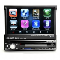 7 inch Single Din DVD Player with GPS navi Bluetooth TV HD Touch screen