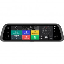 "Android 10"" GPS Rear View Mirror Navigation System with Backup Camera DVR Bluetooth Mount Quad-Core GPS Mirror"