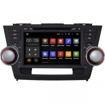 Pure Android Toyota Highlander Navigation DVD Player GPS Radio Head unit with WiFi