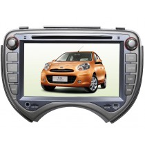 In dash Car DVD Player GPS for Nissan March Micra with Navigation Bluetooth Radio Touch Screen 2010-2014