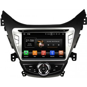 2011 2012 2013 Hyundai Elantra Navigation GPS DVD Player Radio Android OS Quad-Core Mirror-Link
