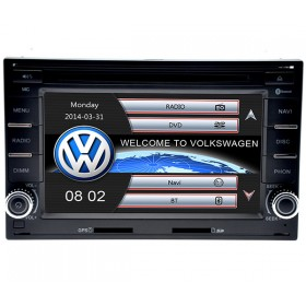 Double Din VW Polo Golf Passat DVD Player GPS navigation Bluetooth Touch screen