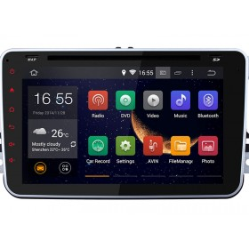 Android VW DVD Player Navigation GPS Car Radio Bluetooth Wifi Dual-Core A9 1080P Version 4.4