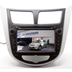 2 Din Car DVD Player Hyundai Verna GPS Navigation radio Bluetooth Touch screen
