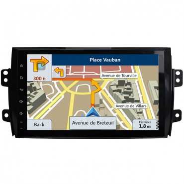 "9"" HD Android 8.0 Suzuki SX4 GPS Navigation Radio Double Din Head Unit BT USB WiFi Mirror-Link"
